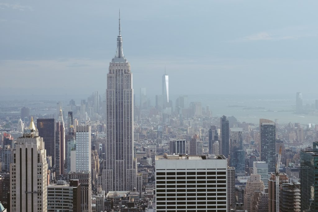 A picture of the Empire State Building in Manhattan, New York City